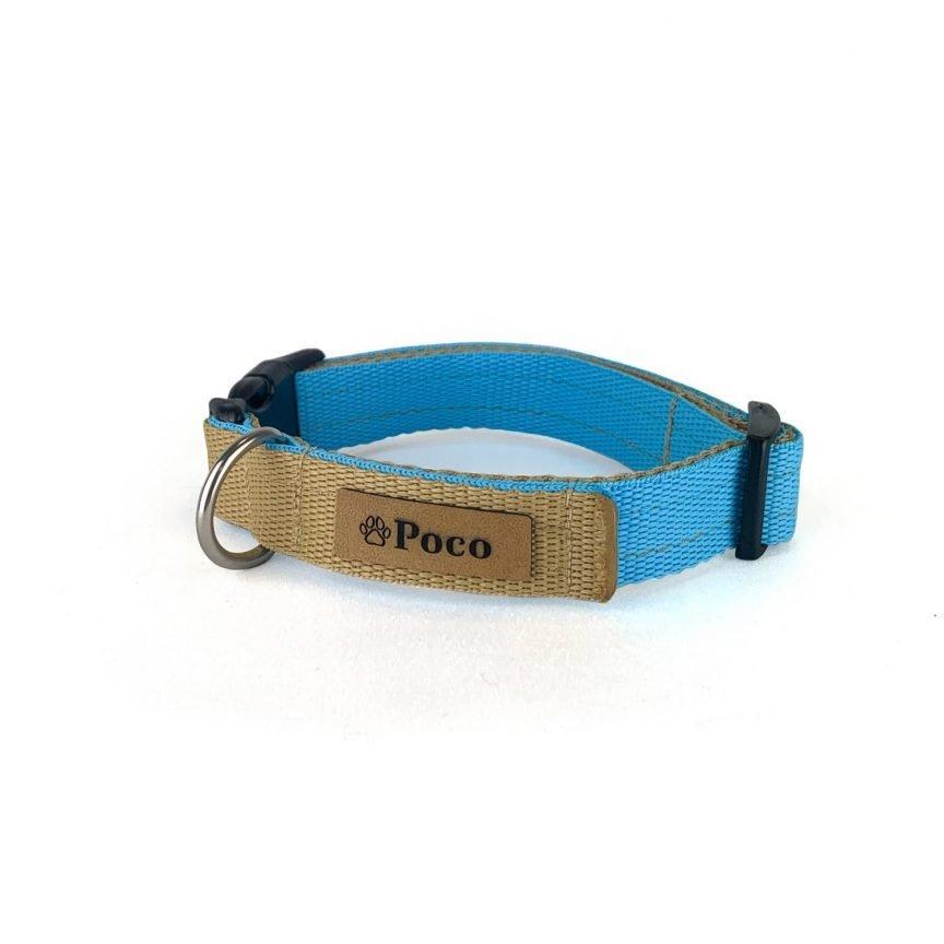 Doll Blue and Sand Dog Collar