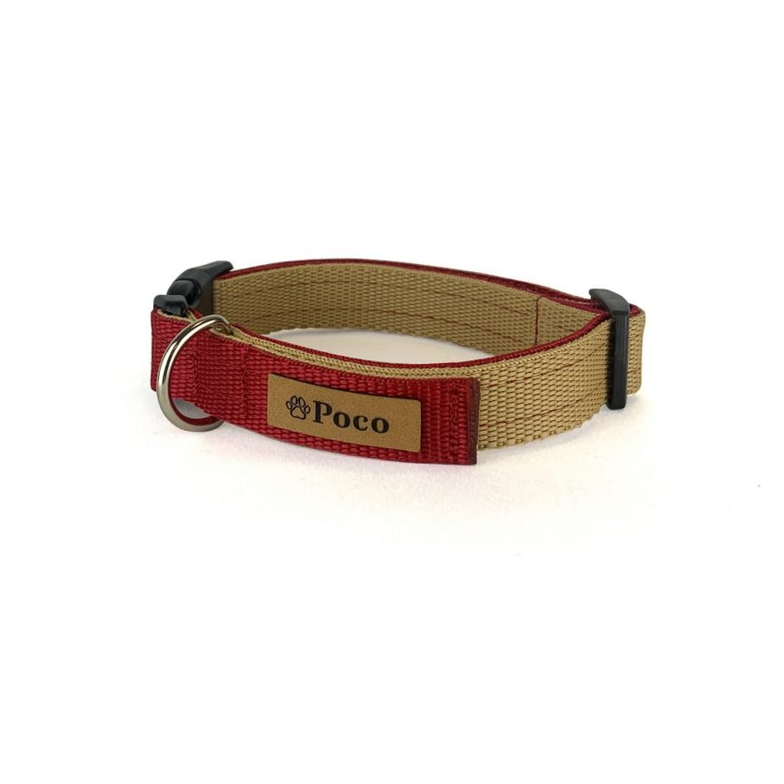 Rosa Red and Sand Dog Collar